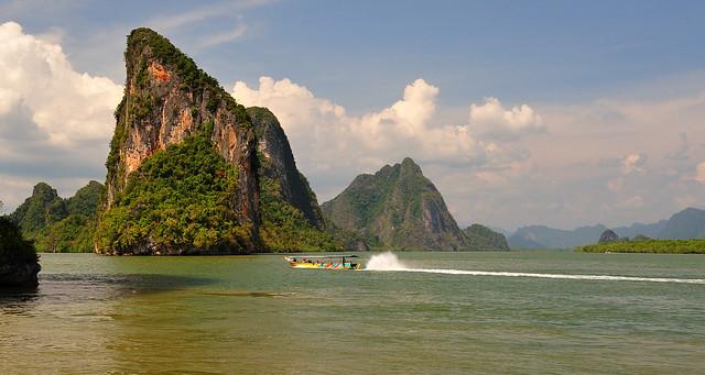 Bahía de Phang Nga. Tailandia.