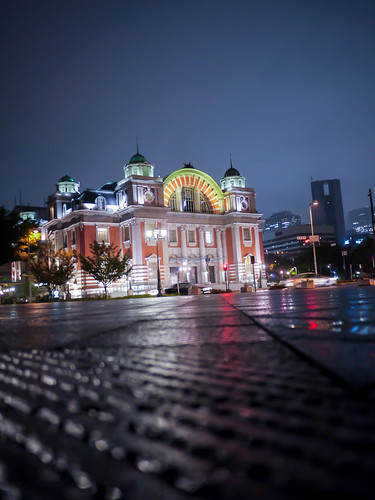 Osaka Central Public Hall in the Rain by hyossie
