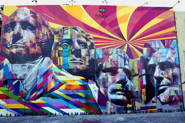 Mount Rushmore Mural in Los Angeles