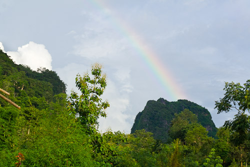 Rainbow over the karst