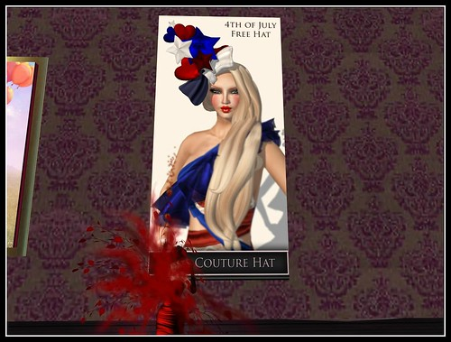 *Bliss Couture*4th of July Free Hat (Bliss Dolls Only) by Cherokeeh Asteria