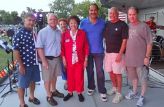 With Supervisor Howard Phillips and other elected officials on stage at the Haverstraw fireworks show.