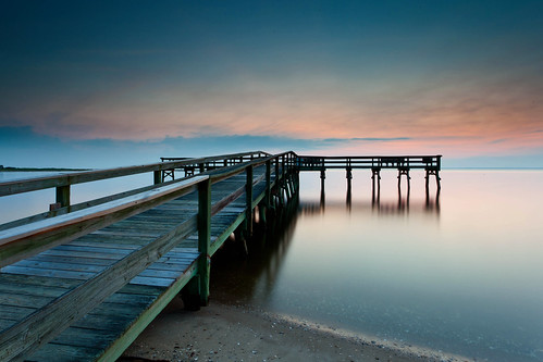 longexposure sky cloud colors night sunrise canon dawn pier cloudy perspective smooth maryland formation bluehour canonef1740mmf4lusm chesapeakebay waterscape calvertcounty flagponds 5dmkii singhrayrgnd