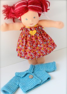 Custom Simple Halter Dress w/Sweater Set (You Pick Size, Fabric & Yarn!)