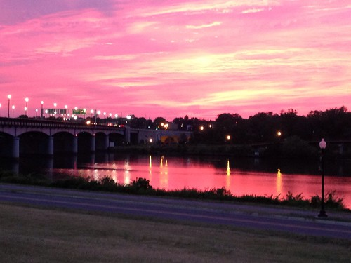 Sunset from the Anacostia Riverwalk Trail