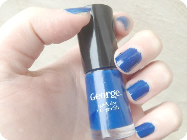 blue asda nail polish