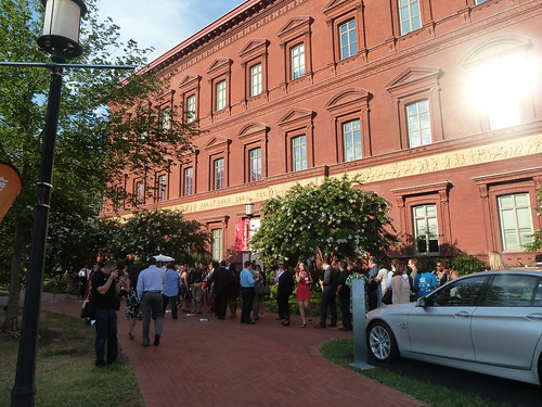 Guests line up outside the National Building Museum