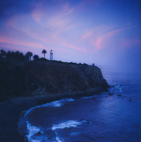 ocean light cliff lighthouse film water zeiss sunrise point coast early los call long exposure fuji pacific angeles hasselblad carl medium format vicente wakeup verdes rugged palos reala