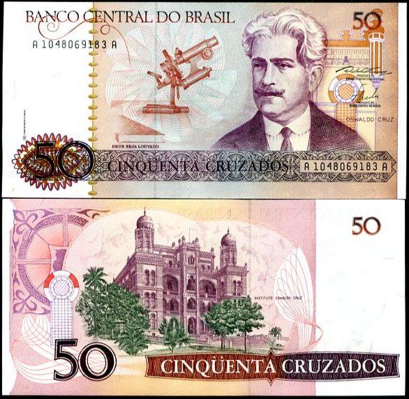 50 Cruzados Brazília 1986-88, Pick 210