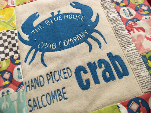 Blue House Crab Tote