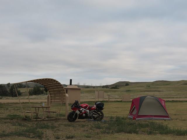 Set up camp in the badlands