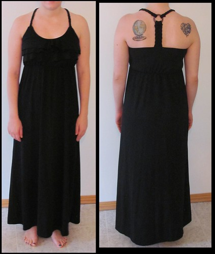05 black maxi dress front and back
