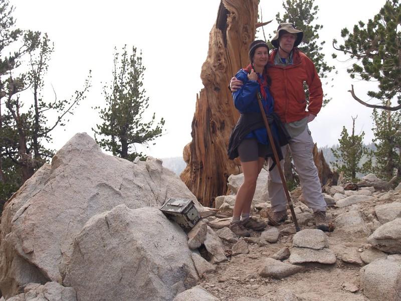 Vicki and I at the Zahniser Peak Summit, aka Peak 10056