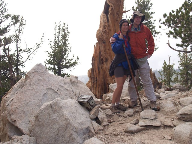 Vicki and I at the Zahniser Peak Summit, aka Peak 10056