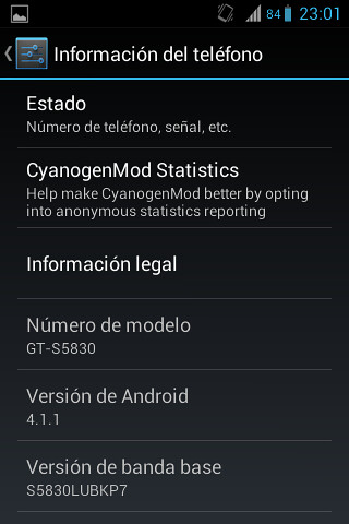 Jelly Bean Alpha 1 para Galaxy Ace