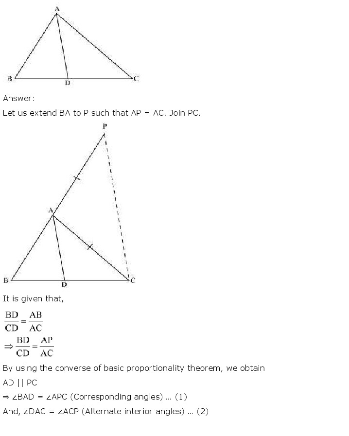 NCERT Solutions For Class 10 Maths Chapter 6 Triangles PDF Download 2018-19 NCERT Solutions For Class 10 Maths Chapter 6