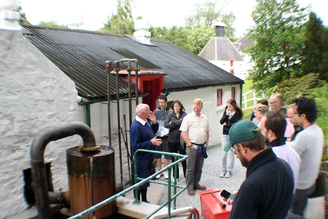 Tour Group at Edradour Distillery