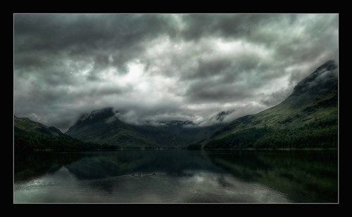 Buttermere Ducks and clouds