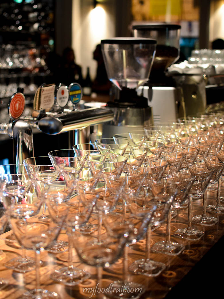 Absolut Elyx Launch - Cocktail glasses all ready to be filled