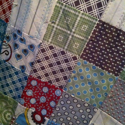 211:365 Basted & marked this weekend. Now to get it quilted.