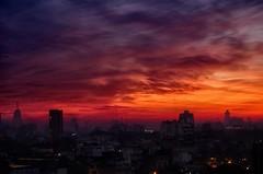 Niebla y ocaso - Fog and sunset