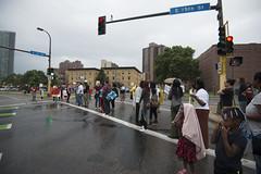 Protesters block street at Donald Trump fundraiser