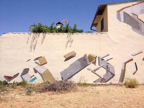 Detail. Las mesas, Cuenca #castillalamancha #painting #structure #architecture