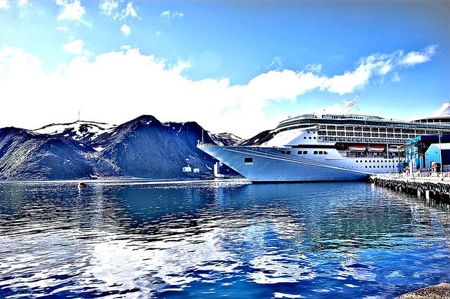 Royal Caribbean Arctic circle cruise ship