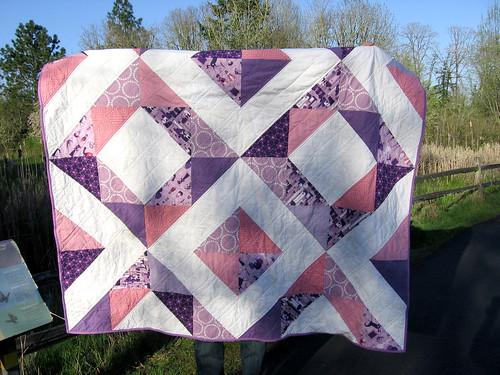 1001 peeps quilt folded