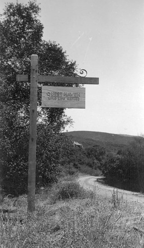 Wildlife Refuge Sign, circa 1950's