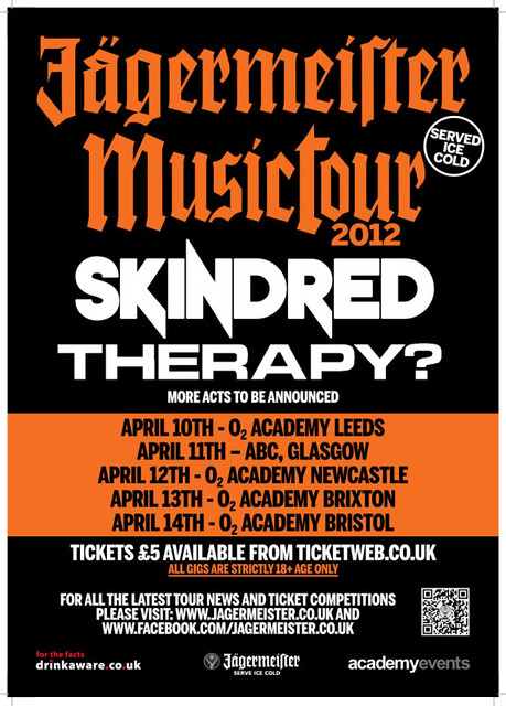 Skindred therapy jagermeister tour review bacl spiders metal gigs gig listings metalgigs