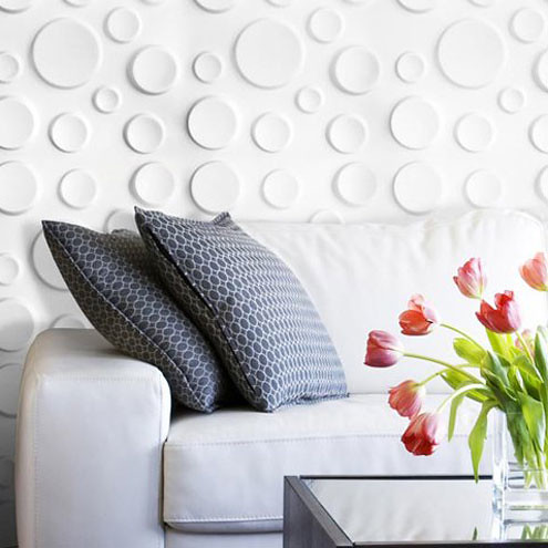 Give your interior a luxurious look with embossed wall decoration from WallArt!