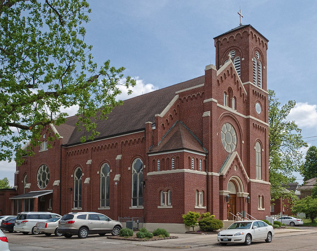 Saint Henry Roman Catholic Church, in Charleston, Missouri, USA - exterior