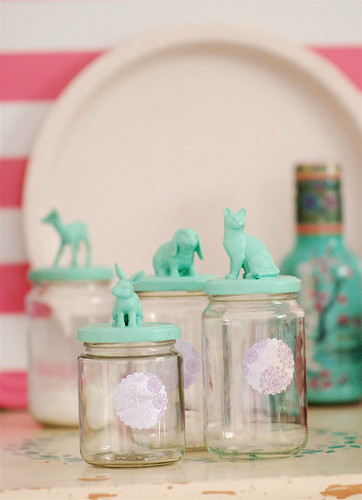 Jam jars with animals by jasna.janekovic