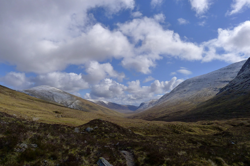 Bright skies over Glenuaig