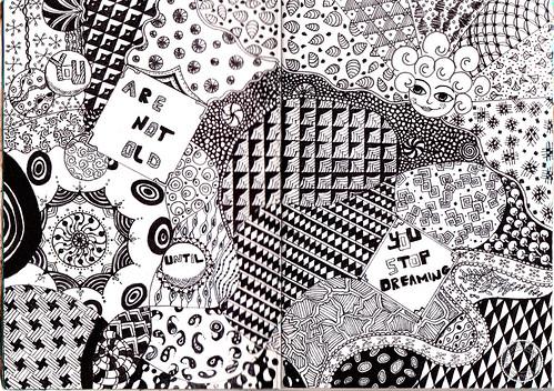 sketchbook - zentangle 1