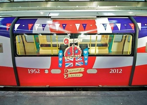 Jubilee decorated train