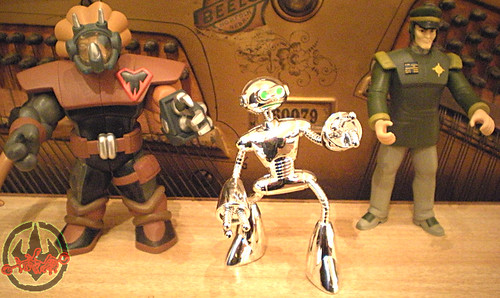 "TEENAGE MUTANT NINJA TURTLES :: GENERAL BLANQUE viii / ..with  Commander Mozar &  ""Fugitoid"" Collector Figure  (( 2005 ))"