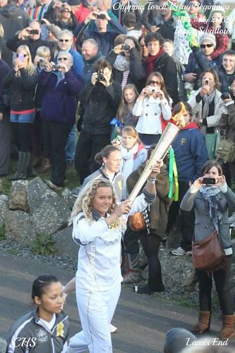 Olympic Torch Relay, Lands End. by Stocker Images