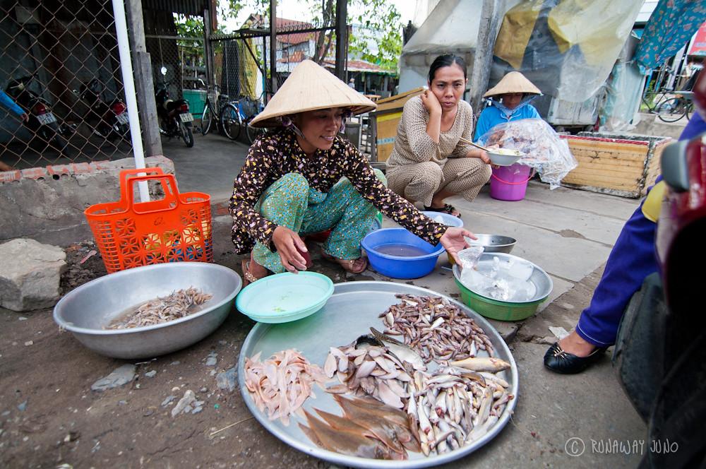 Fish market on the street