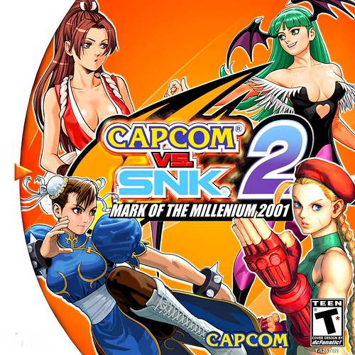 capcom vs snk 2 mark of the millennium 2001 Front White HQ by dcFanatic34