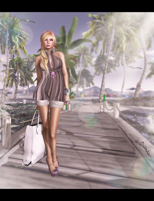 Mimikri - Malibu top - Oyster & Shorts - Beige