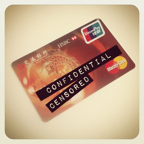 Credit card issued by Bank of Communications