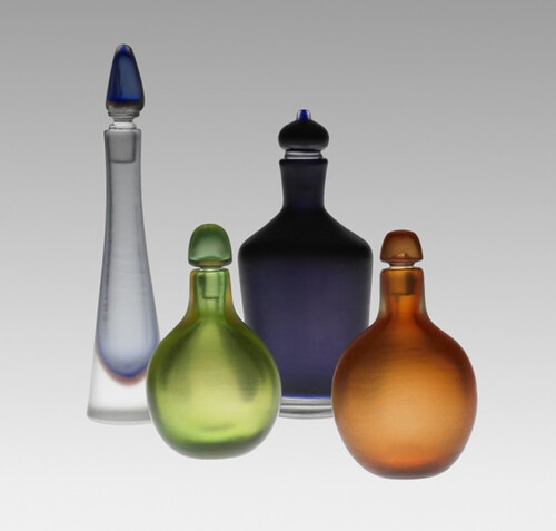 Paolo Venini, Inciso bottles, set of four, 1950, Lot 184