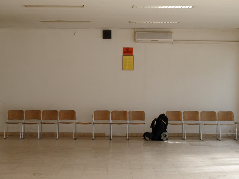 salle d'attente du bus@Mostar