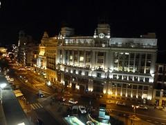 Vista nocturna desde la Terraza del Casino de Madrid