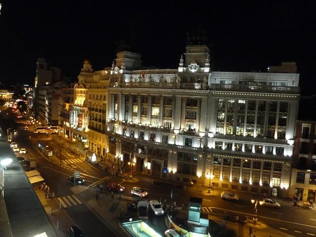 Vista nocturna desde la terraza del casino de madrid for Terrazas nocturnas madrid