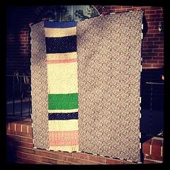 Backside of 3rd grade quilt