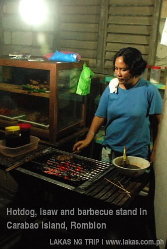 Isaw and barbecue stand in Carabao Island, Romblon