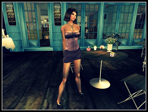 Blueberry Berry *Mesh* Denim Dress in Rose Group Gift by Cherokeeh Asteria